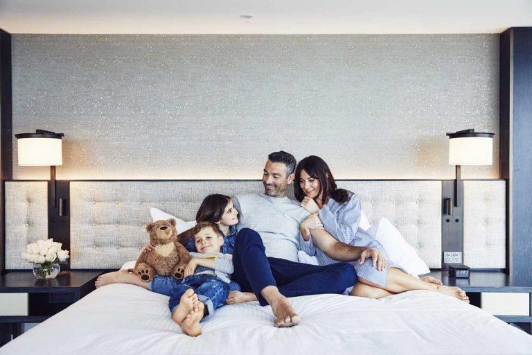 feature a family at hyatt regency sydney
