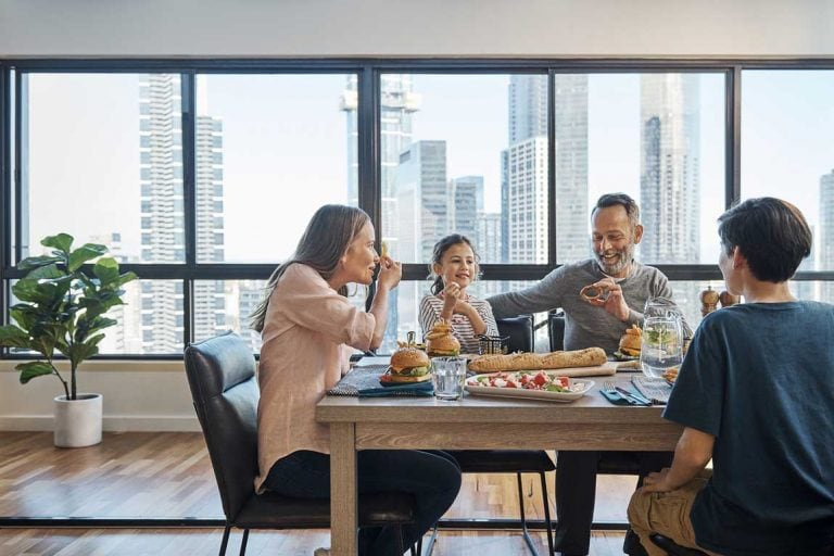 feature a family dining at oaks melbourne on market hotel