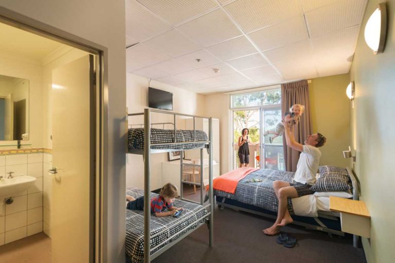 feature a family room at adelaide city yha - a family friendly hotel in australia