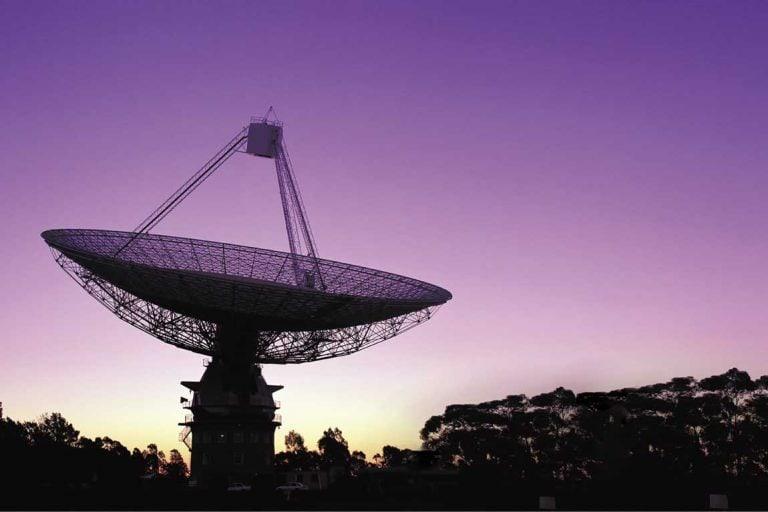 feature the csiro radio telescope at parkes in central nsw. image destination nsw