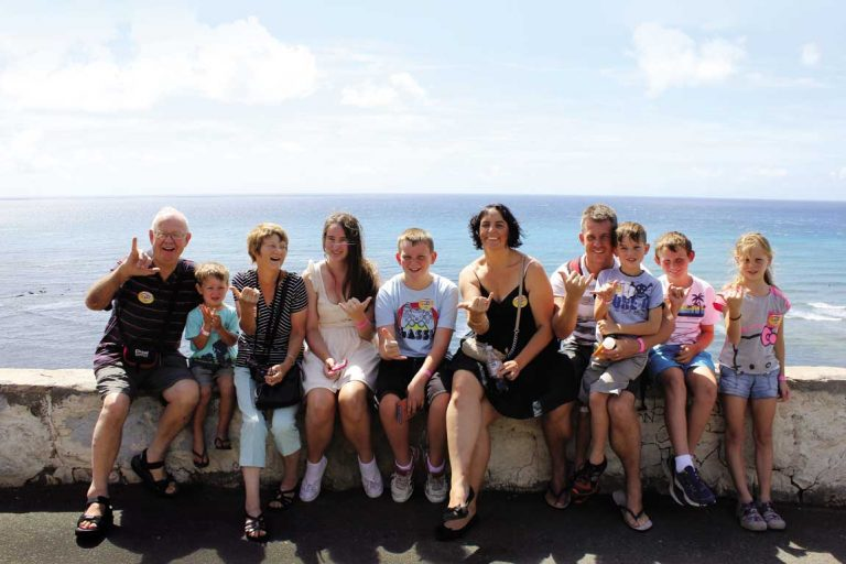 feature three generations of the mason family in hawaii