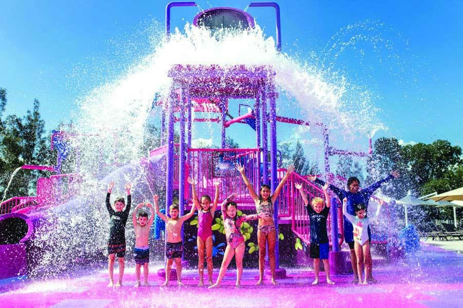 kids enjoying the new waterpark at crowne plaza hunter valley