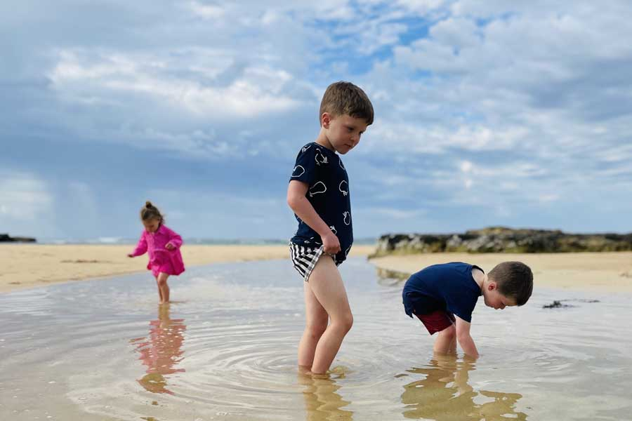 lazy mornings looking for shells at peterborough - Great Ocean Road family trip