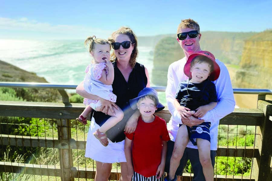 preparing to watch the sunset over the twelve apostles - Great Ocean Road family trip