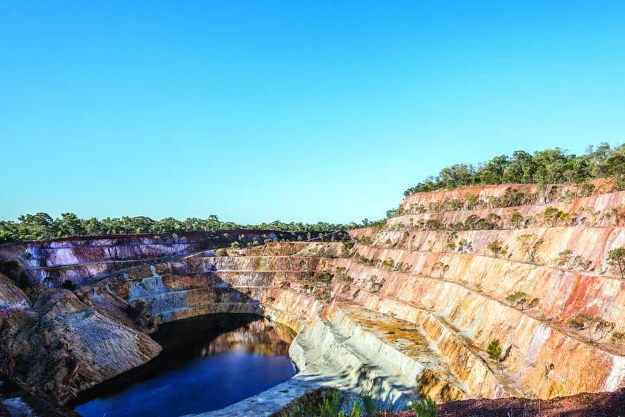 the peak hill open cut gold mine in parkes shire. image destination nsw