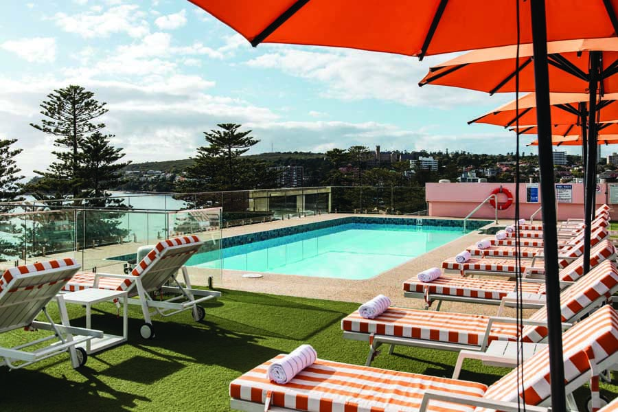 the rooftop pool at novotel manly pacific