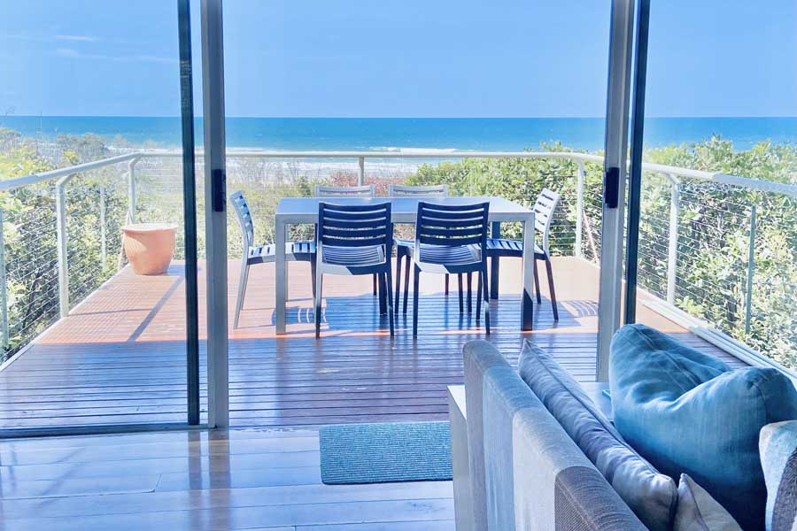 views from the retreat beach house