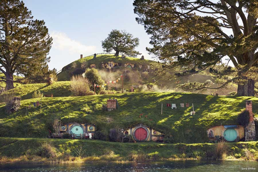 visiting hobbiton is a magical experience in new zealand. image sara orme