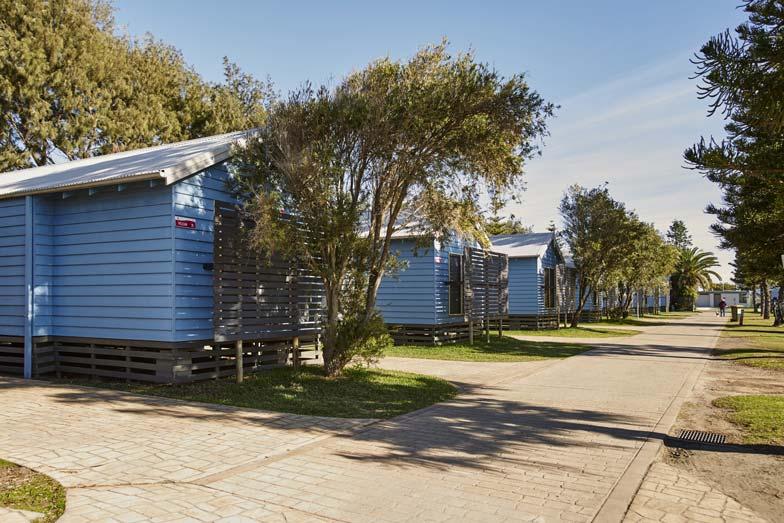 pelican cabins at toowoon bay holiday park