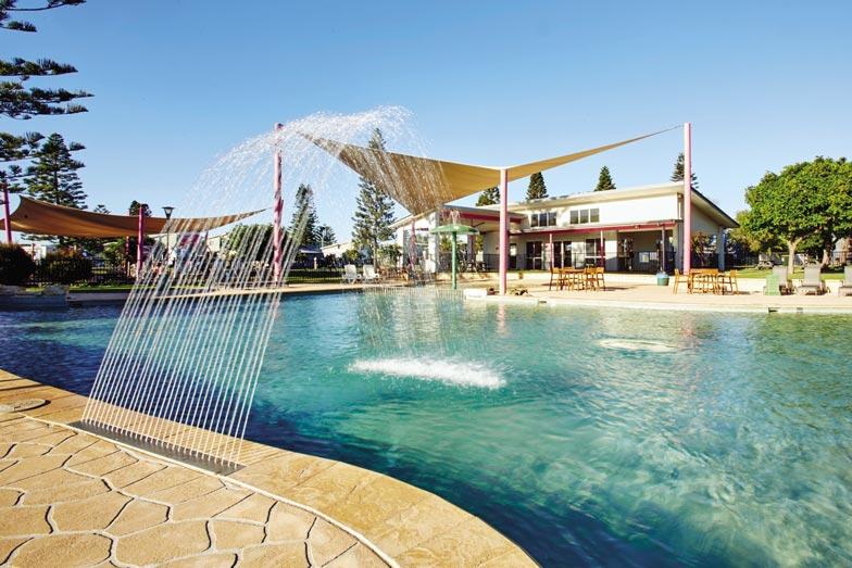 the pool at toowoon bay holiday park