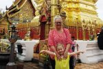 FEATURE Dyan and Beatrice at Doi Suthep temple in Chiang Mai
