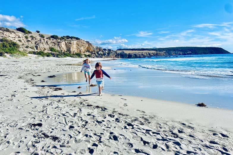 chasing the sun at stokes bay Kangaroo Island