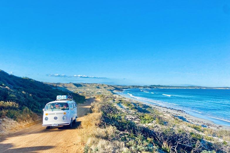 driving in vivonne bay Kangaroo Island