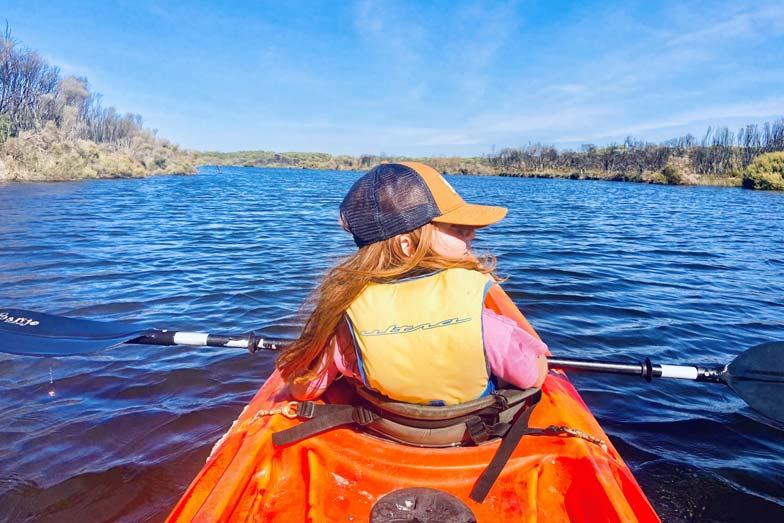 kayaking down the harriet river