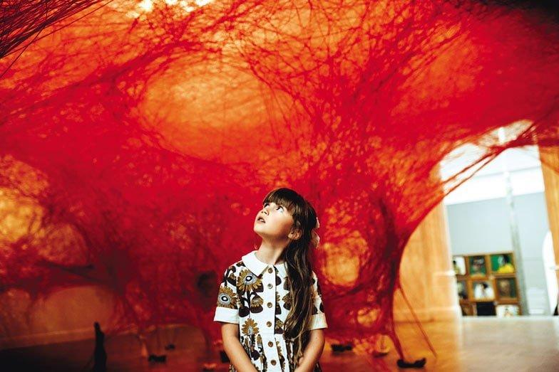 A child at Art Gallery of South Australia. Image Megan Crabb
