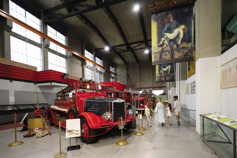 A family at the Museum of Fire at Penrith. Image Destination NSW
