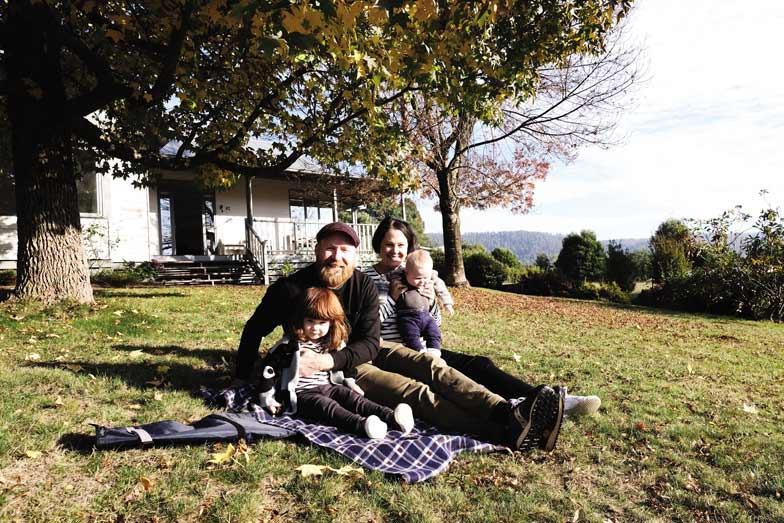 Ben Groundwater and his family in Victoria's High Country