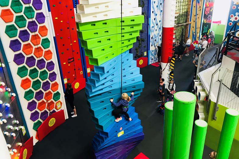 Climbing fun at Game Over in the BIG4 Gold Coast Holiday Park