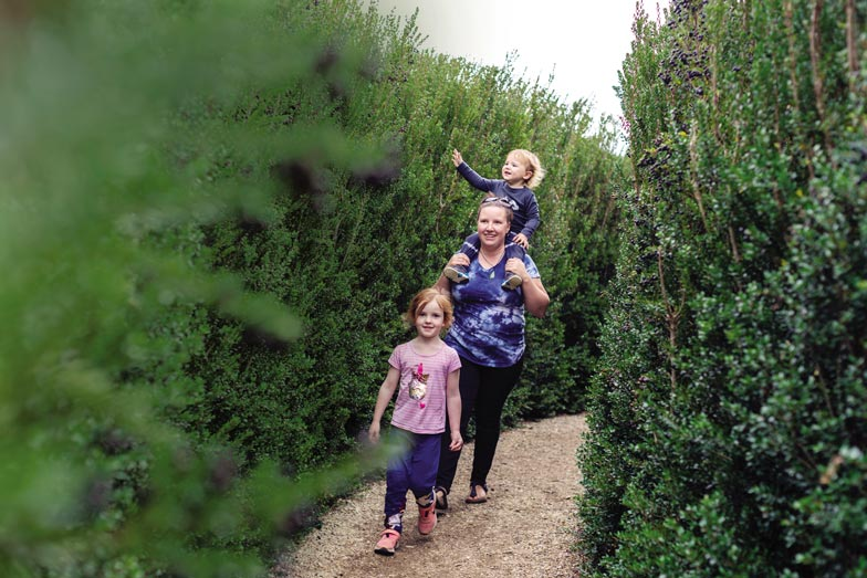 Explore the maze at Wals Plant and Funland - things to do in Dunedin with kids