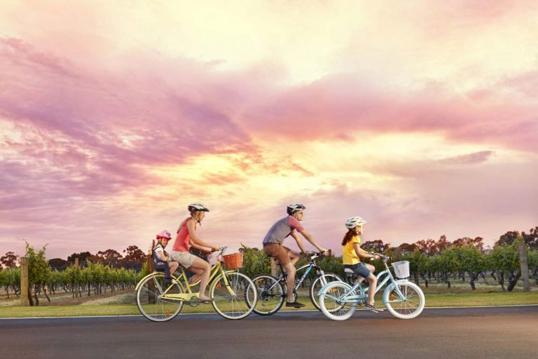 FEATURE Cycling in the Swan Valley. Image Tourism Western Australia