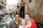 FEATURE Gaynor and her family on a gondola ride in Italy