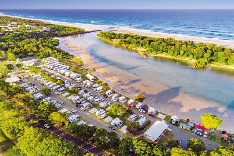 FEATURE Tweed Pottsville South Holiday Park from above