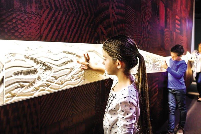 First Peoples Bunjilaka Aboriginal Cultural Centre at Melbourne Museum. Image Visit Victoria