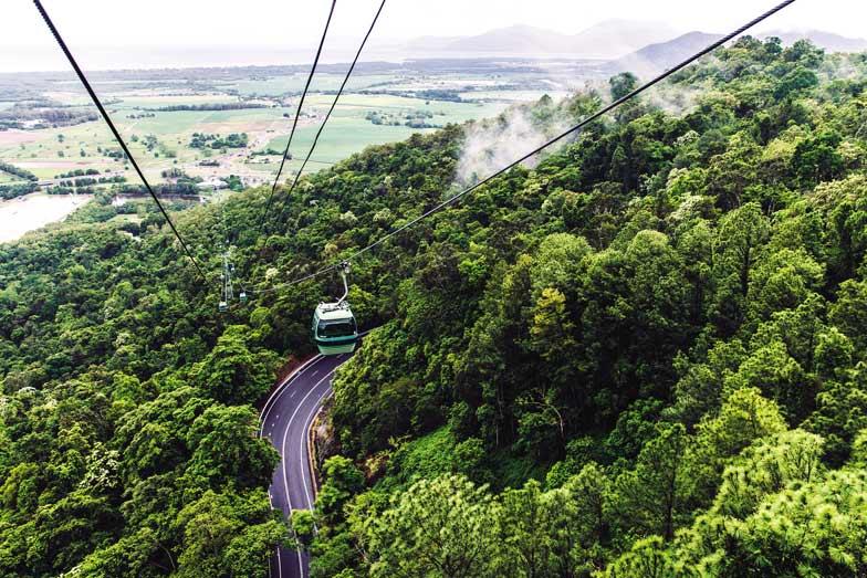 Kuranda Skyrail Cableway. Image Tourism and Events Queensland