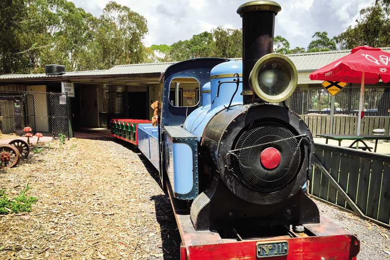 Ride the miniature train at Yarralumla Play Station. Image VisitCanberra