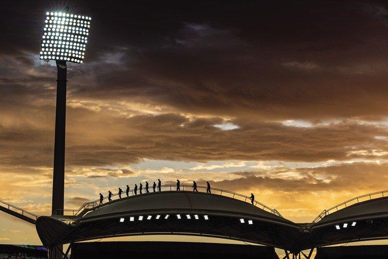 Roofclimb Adelaide Oval. Image John Montesi
