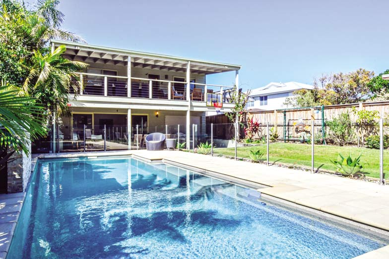 Stay in a holiday home like All 2 Heavenly at Blueys Beach. Image Pacific Palms Holidays