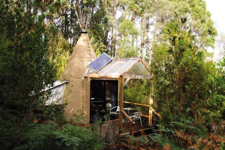 Stay in a tepee at Huon Bush Retreats