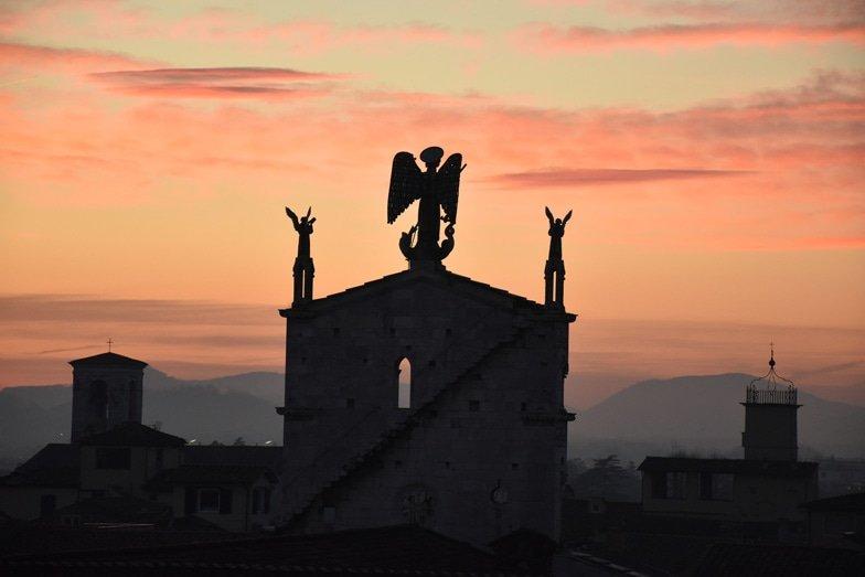 Sunset view of Archangel Michael Lucca. Image Belinda Murrell