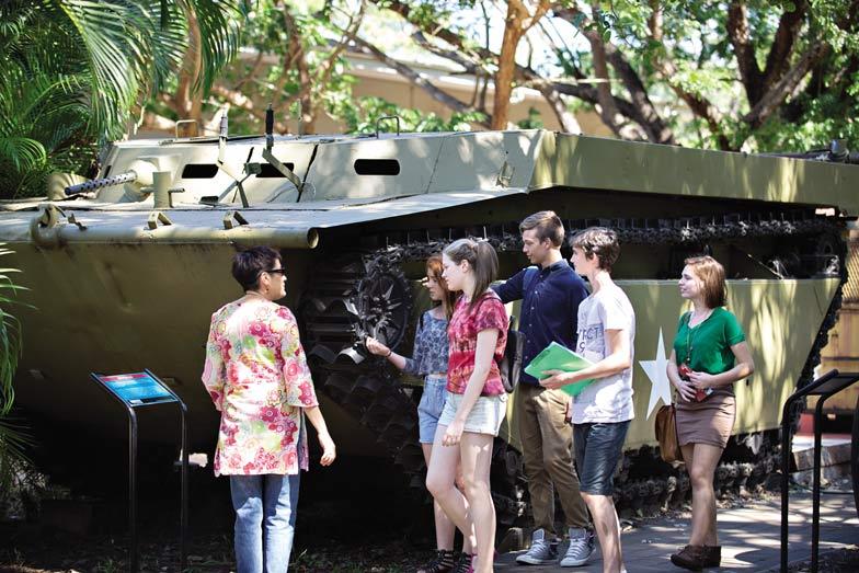 The Defence of Darwin tour. Image Tourism NT Shaana McNaught