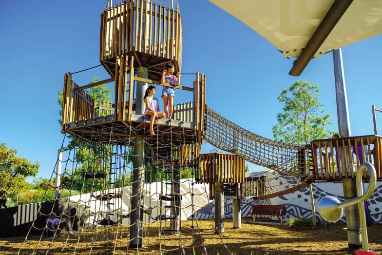 The playground at Elizabeth Quay in Perth. Image Tourism Western Australia