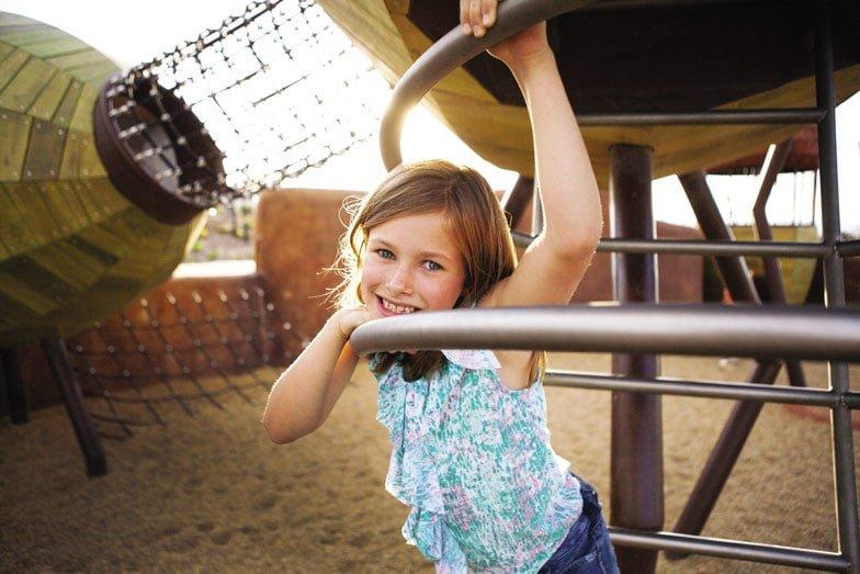 The pod playground at the National Aroretum. Image VisitCanberra