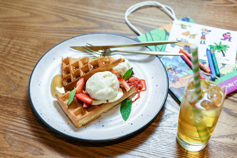 Waffles at Workshop Kitchen at Powerhouse Tamworth by Rydges 1