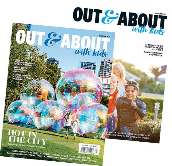 out and about with kids magazine covers July2021