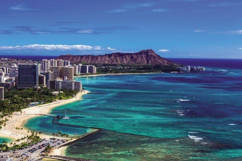 An aerial view of Waikiki. Image Hawaii Tourism Authority Tor Johnson