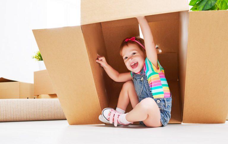 Build a cardboard cubby house