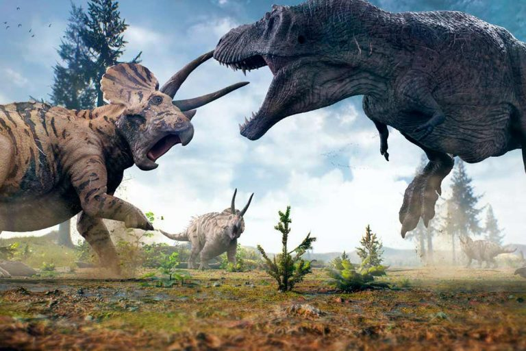 Fossils suggest face offs between T. rex and Triceratops were common. Shutterstock