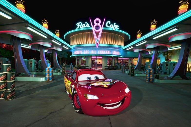 Lightning McQueen at Cars Land. Image Disney