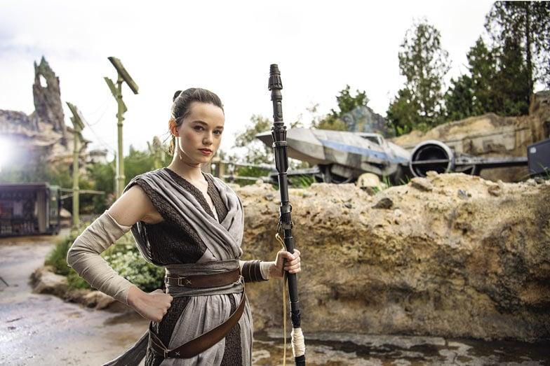 Meet Rey at Star Wars Galaxys Edge. Image ©Disney Lucasfilm Ltd. © TM Lucasfilm Ltd