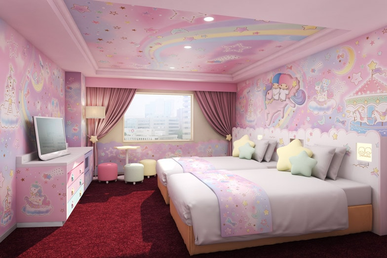 The Little Twin Stars themed room