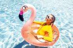 Flamingo fun in the pool at Paradise Resort Gold Coast