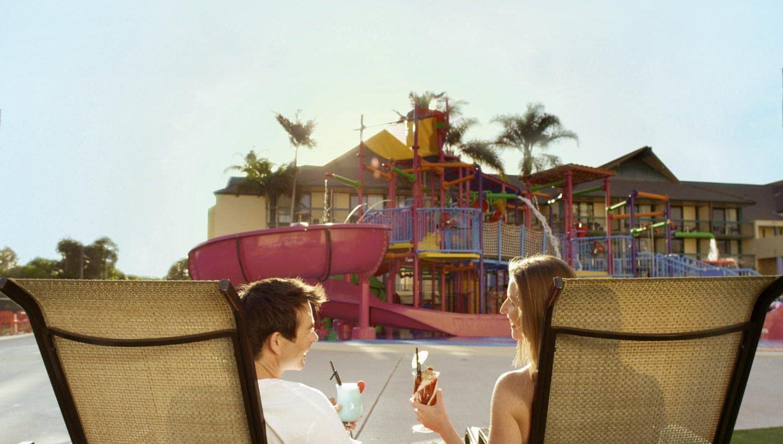 Happy parents at Paradise Resort Gold Coast